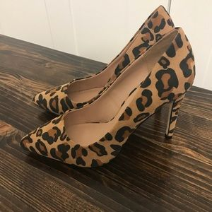 New! Leopard Print Pointy Pumps | Size 6